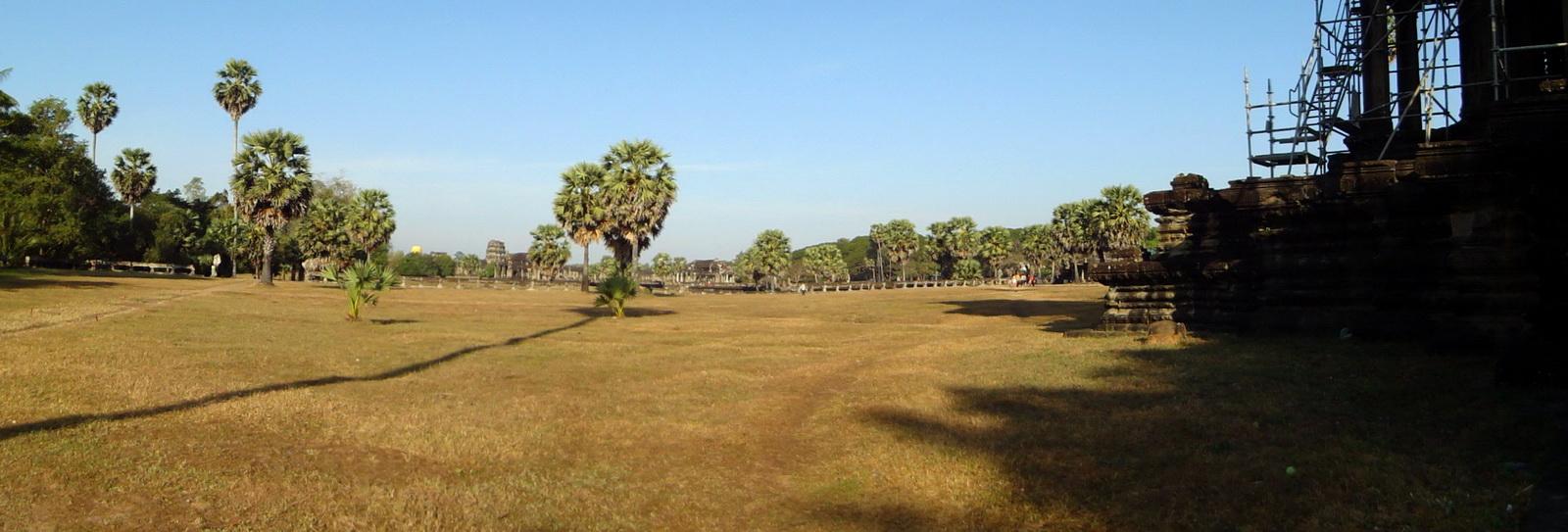 Angkor Wat panoramic view S side looking west Angkor Siem Reap 02