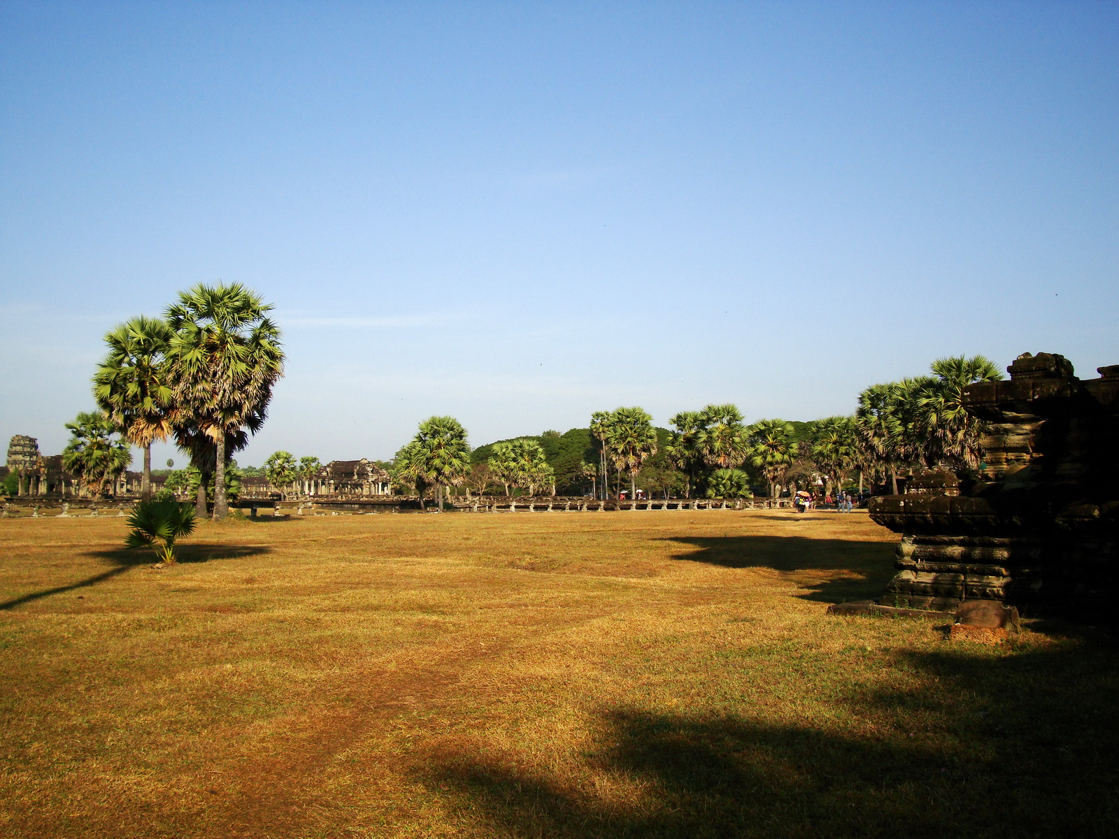 Angkor Wat panoramic view SW corner looking NW Angkor Siem Reap 01
