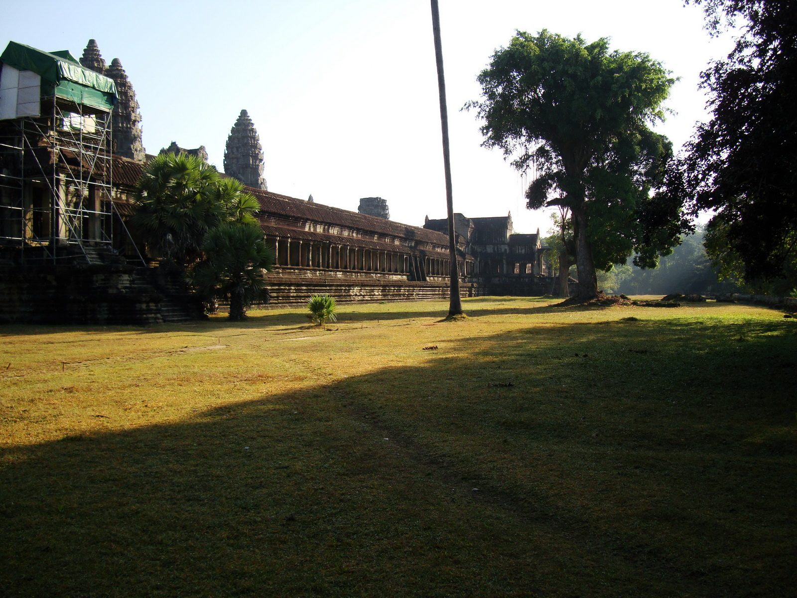 Angkor Wat panoramic view SW corner looking east Angkor Siem Reap 01
