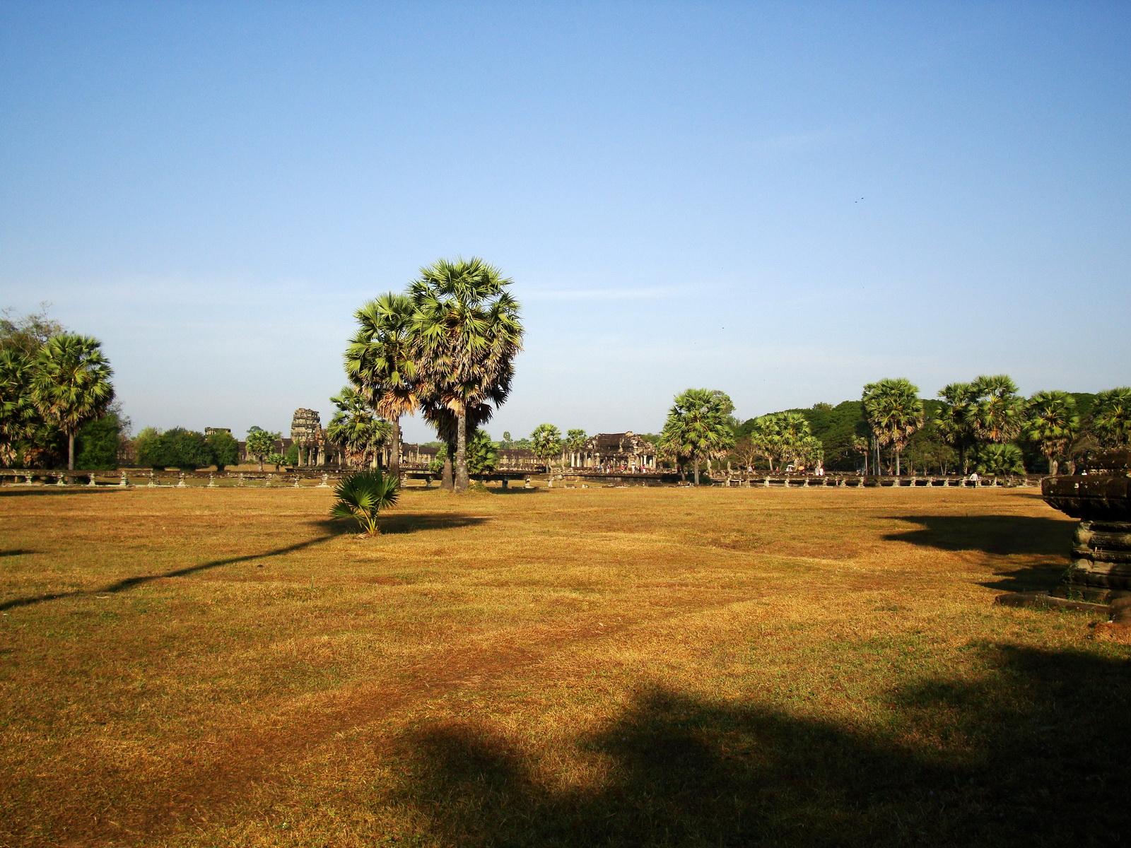 Angkor Wat panoramic view SW corner looking west Angkor Siem Reap 01