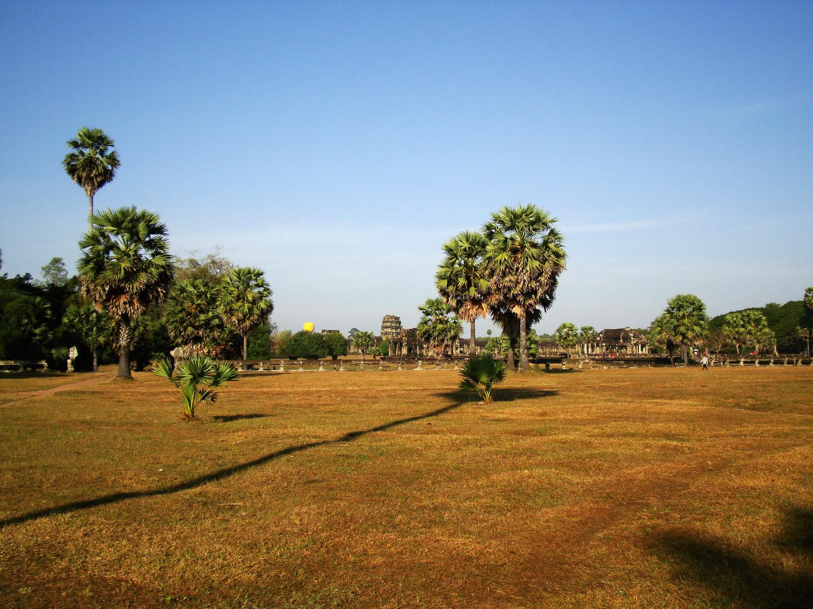 Angkor Wat panoramic view SW corner looking west Angkor Siem Reap 02