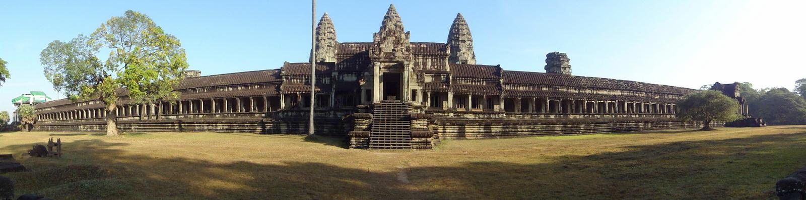 Angkor Wat panoramic view southern side Angkor Siem Reap 01