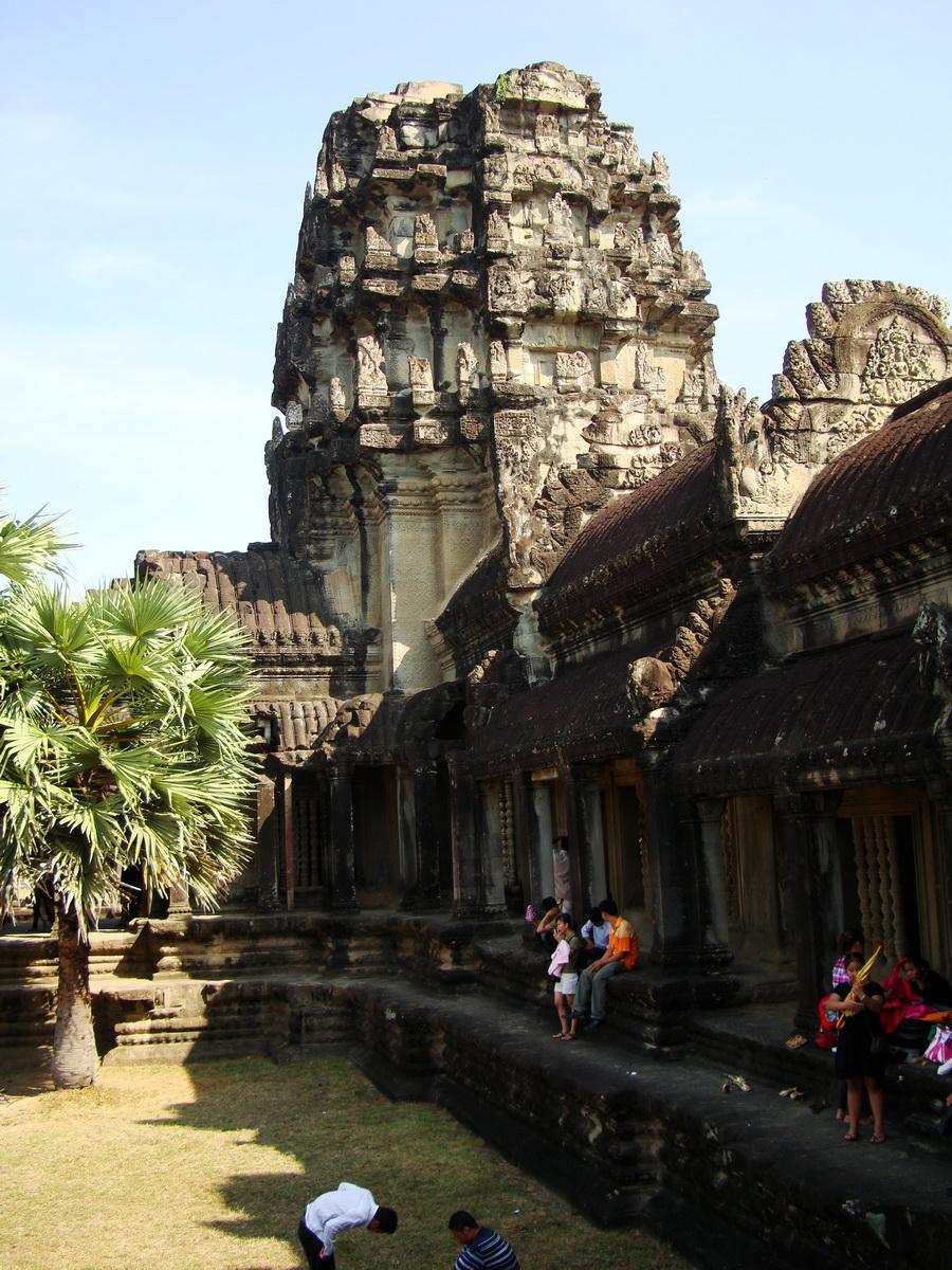 Angkor Wat panoramic views Western Gopura outside 04