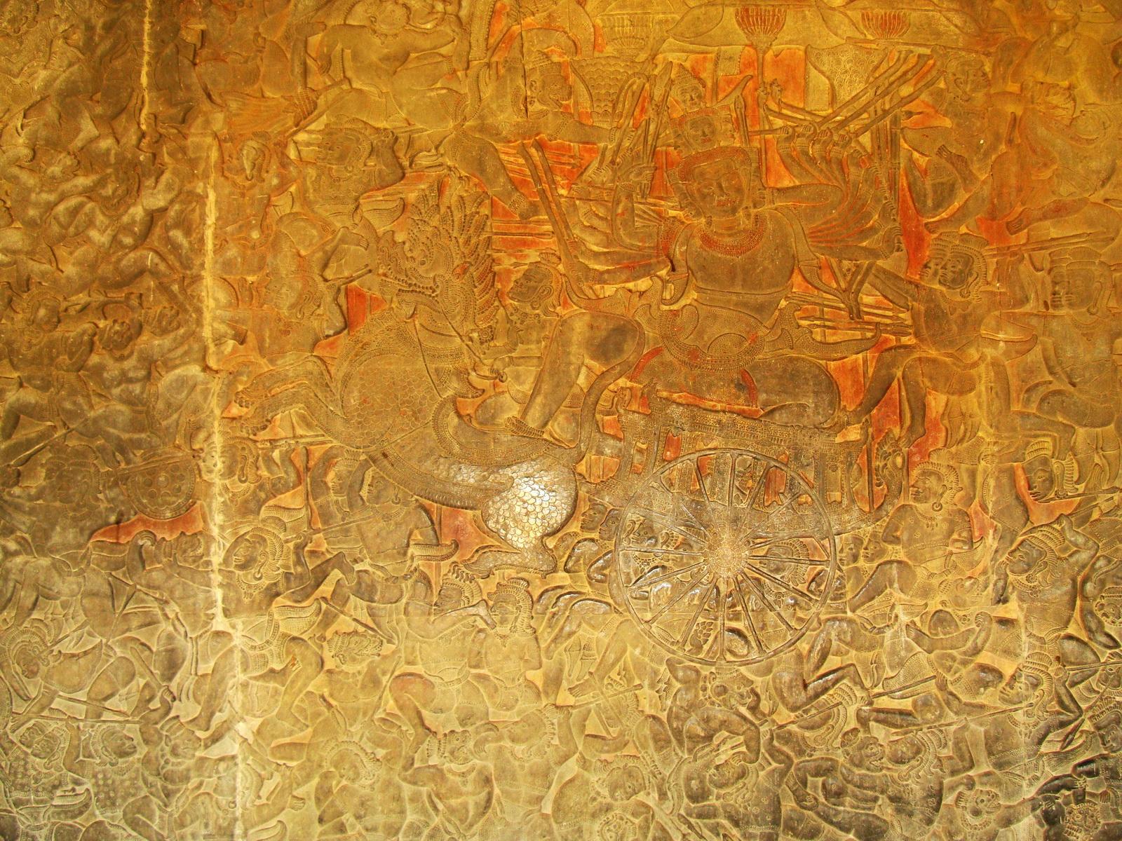 Angkor Wat Bas relief W Gallery N Wing Battle of Lanka 20