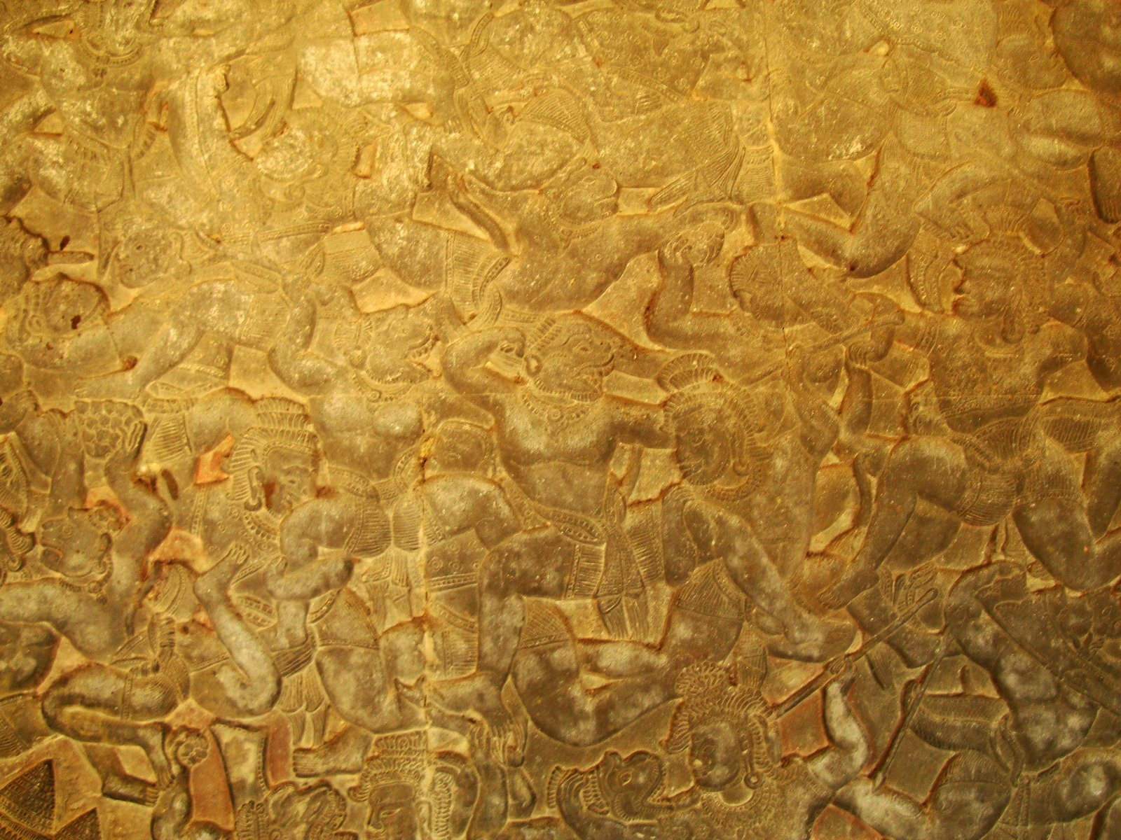 Angkor Wat Bas relief W Gallery N Wing Battle of Lanka 26