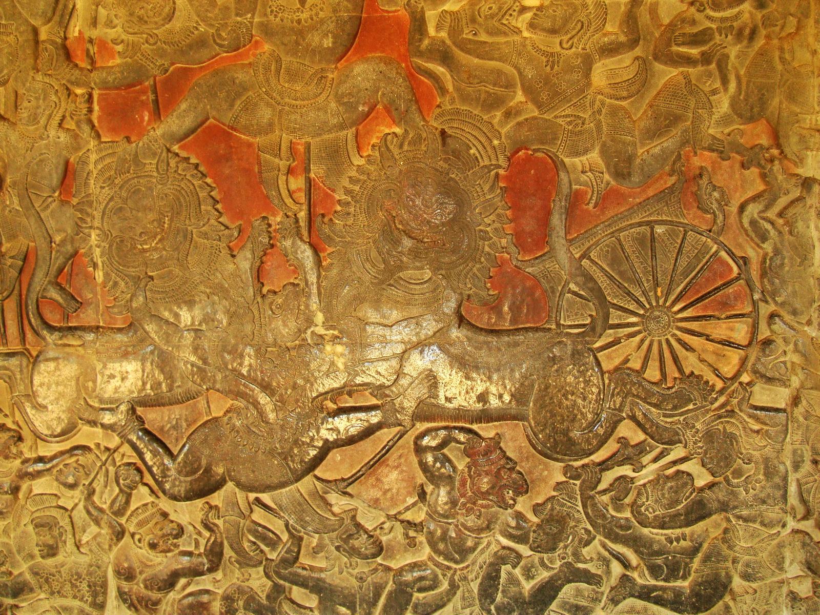 Angkor Wat Bas relief W Gallery N Wing Battle of Lanka 28