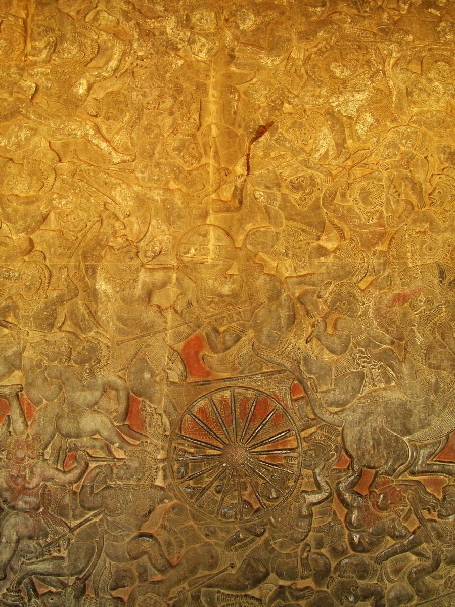 Angkor Wat Bas relief W Gallery N Wing Battle of Lanka 33
