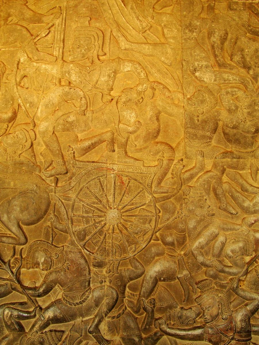 Angkor Wat Bas relief W Gallery N Wing Battle of Lanka 55