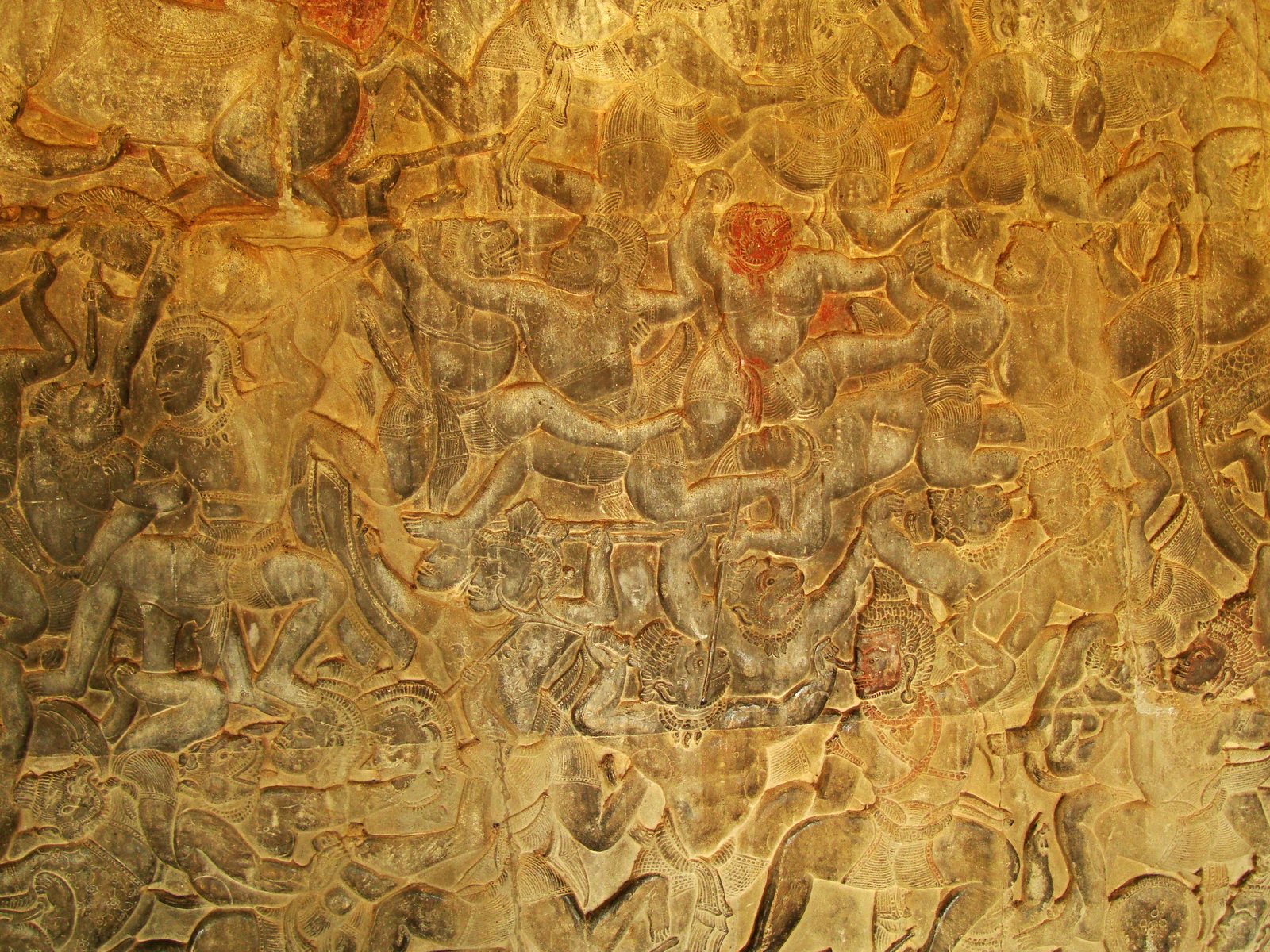 Angkor Wat Bas relief W Gallery N Wing Battle of Lanka 61