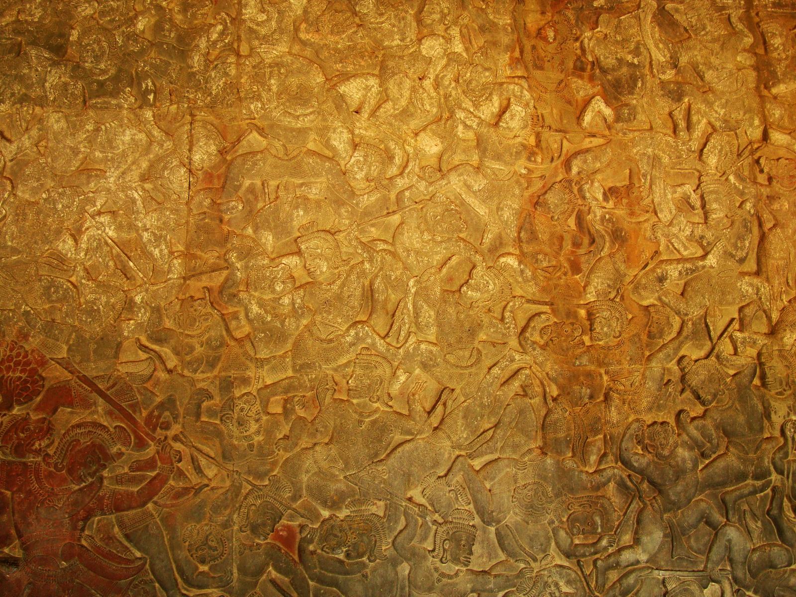 Angkor Wat Bas relief W Gallery N Wing Battle of Lanka 68