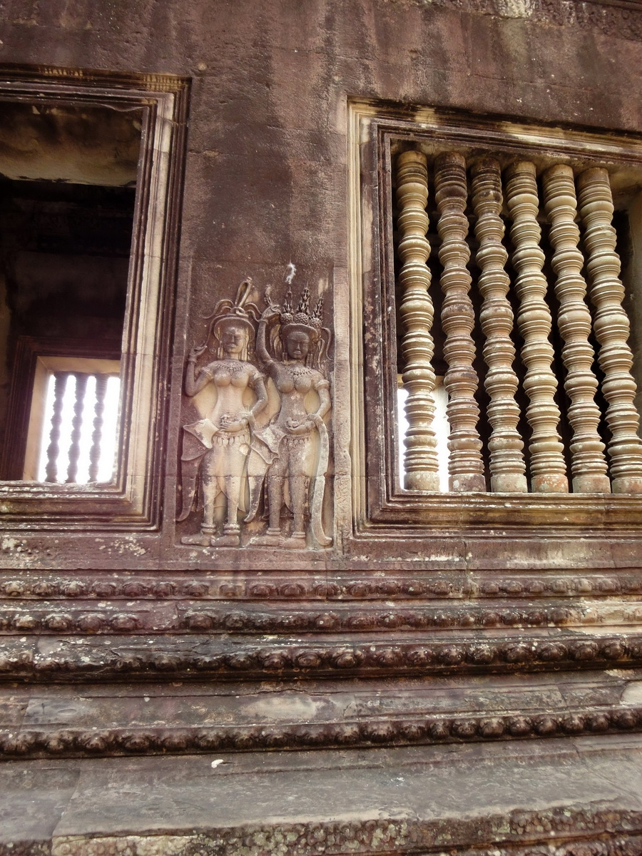 Angkor Wat Khmer architecture bas relief devatas Siem Reap 21