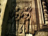 Asisbiz Angkor Wat Khmer architecture bas relief devatas Siem Reap 08