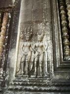 Asisbiz Angkor Wat Khmer architecture bas relief devatas Siem Reap 10