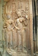 Asisbiz Angkor Wat Khmer architecture bas relief devatas Siem Reap 13