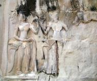 Asisbiz Angkor Wat Khmer architecture bas relief devatas Siem Reap 14