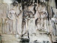 Asisbiz Angkor Wat Khmer architecture bas relief devatas Siem Reap 16