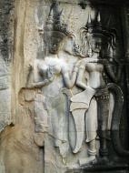 Asisbiz Angkor Wat Khmer architecture bas relief devatas Siem Reap 17