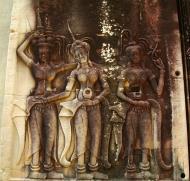 Asisbiz Angkor Wat Khmer architecture bas relief devatas Siem Reap 18