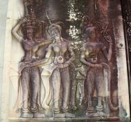 Asisbiz Angkor Wat Khmer architecture bas relief devatas Siem Reap 19