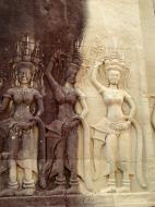 Asisbiz Angkor Wat Khmer architecture bas relief devatas Siem Reap 23