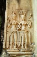 Asisbiz Angkor Wat Khmer architecture bas relief devatas Siem Reap 24