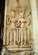 Asisbiz Angkor Wat Khmer architecture bas relief devatas Siem Reap 25