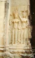 Asisbiz Angkor Wat Khmer architecture bas relief devatas Siem Reap 26