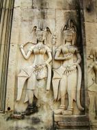 Asisbiz Angkor Wat Khmer architecture bas relief devatas Siem Reap 28
