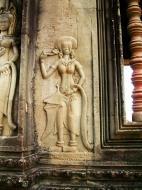 Asisbiz Angkor Wat Khmer architecture bas relief devatas Siem Reap 29