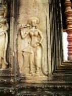 Asisbiz Angkor Wat Khmer architecture bas relief devatas Siem Reap 30