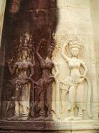 Asisbiz Angkor Wat Khmer architecture bas relief devatas Siem Reap 32