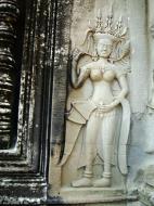 Asisbiz Angkor Wat Khmer architecture bas relief devatas Siem Reap 35