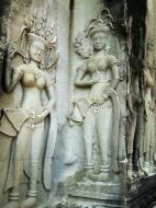 Asisbiz Angkor Wat Khmer architecture bas relief devatas Siem Reap 36