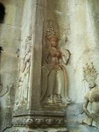 Asisbiz Angkor Wat Khmer architecture bas relief devatas Siem Reap 39