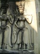 Asisbiz Angkor Wat Khmer architecture bas relief devatas Siem Reap 41