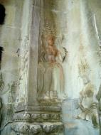 Asisbiz Angkor Wat Khmer architecture bas relief devatas Siem Reap 42