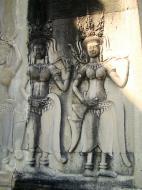 Asisbiz Angkor Wat Khmer architecture bas relief devatas Siem Reap 43