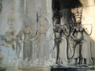 Asisbiz Angkor Wat Khmer architecture bas relief devatas Siem Reap 44