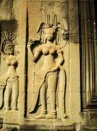Asisbiz Angkor Wat Khmer architecture bas relief devatas Siem Reap 46