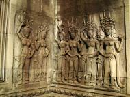 Asisbiz Angkor Wat Khmer architecture bas relief devatas Siem Reap 47