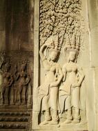 Asisbiz Angkor Wat Khmer architecture bas relief devatas Siem Reap 48
