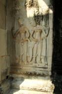 Asisbiz Angkor Wat Khmer architecture bas relief devatas Siem Reap 52