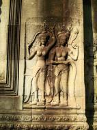 Asisbiz Angkor Wat Khmer architecture bas relief devatas Siem Reap 53