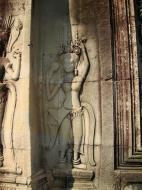 Asisbiz Angkor Wat Khmer architecture bas relief devatas Siem Reap 56