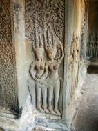 Asisbiz Angkor Wat Khmer architecture bas relief devatas Siem Reap 57