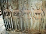 Asisbiz Angkor Wat Khmer architecture bas relief devatas Siem Reap 58