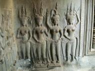 Asisbiz Angkor Wat Khmer architecture bas relief devatas Siem Reap 61