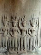 Asisbiz Angkor Wat Khmer architecture bas relief devatas Siem Reap 63