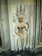 Asisbiz Angkor Wat Khmer architecture bas relief devatas Siem Reap 64