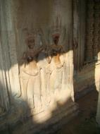 Asisbiz Angkor Wat Khmer architecture bas relief devatas Siem Reap 66